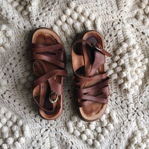 Brown Dansko sandals sz 38